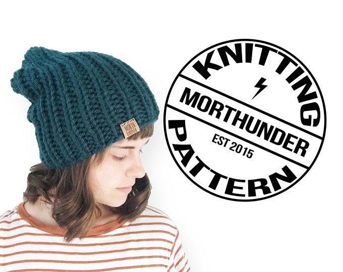 Simple Chunky Rib Knitting Beanie