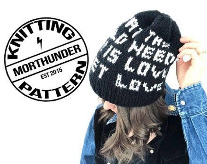 Love Sweet Love Knitting Beanie