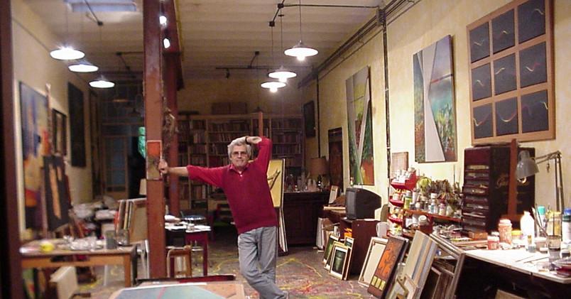 Tito Busse en su taller del barrio de Palermo.