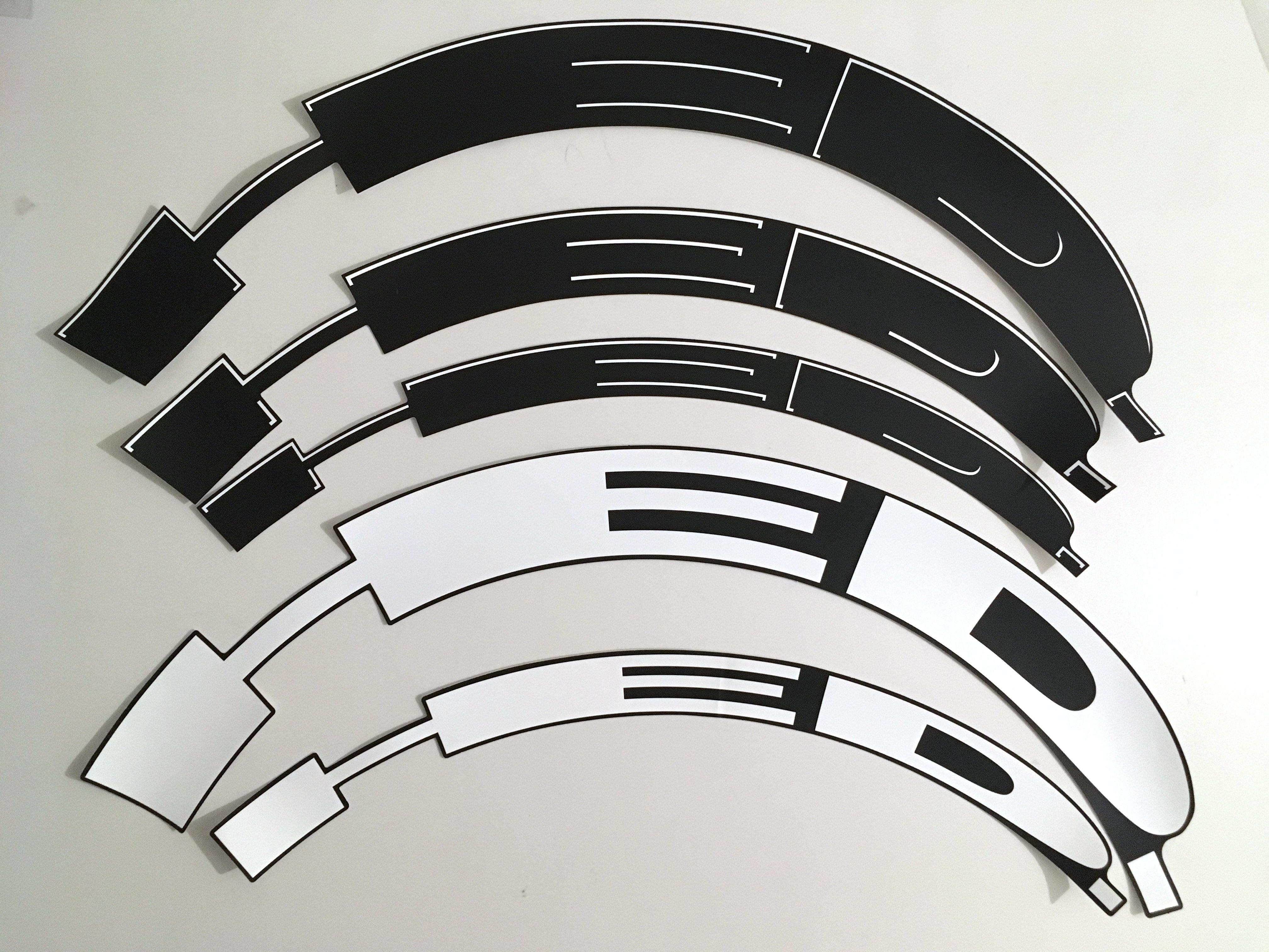 HED BLACK// WHITE OUTLINE WHEELS RIM DECALS STICKERS SET FOR 70//88 RIM DEPTH