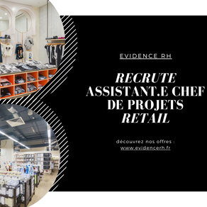 Assistant.e Chef De Projets Retail H/F