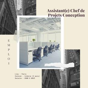 Assistant(e) Chef de Projets Conception (H/F)