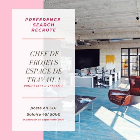 Architecte - Chef de travaux bureaux Luxe & retail H/F