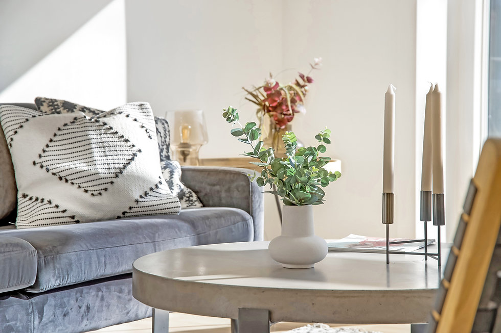 Blomster på sofabord