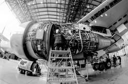 aircraft b w
