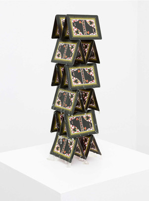 Half Flush, 2015  Edition of x + iii AP's  printed playing cards, resin  13 x 3 1/2 x 3 1/2 in -- 33 x 8.8 x 8.8 cm
