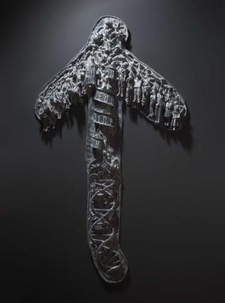 Enie Meanie, 2013  resin,  Ed. ii + i AP  35 3/8 x 61 1/4 x 3 3/4 in -- 90 x 156 x 10 cm