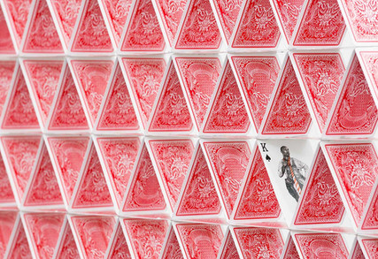 Half Flush - Spades (detail), 2015  Edition of iv w/ variations  printed playing cards, resin  48 1/2 x 59 x 2 1/4 in -- 123 x 150 x 5.7 cm