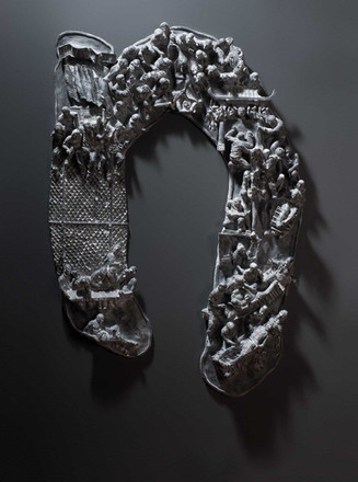 Virtue Of The Vicious, 2013  resin,   Ed. ii + i AP  26 3/8 x 38 1/2 x 4 2/8 in -- 67 x 98 x 11 cm