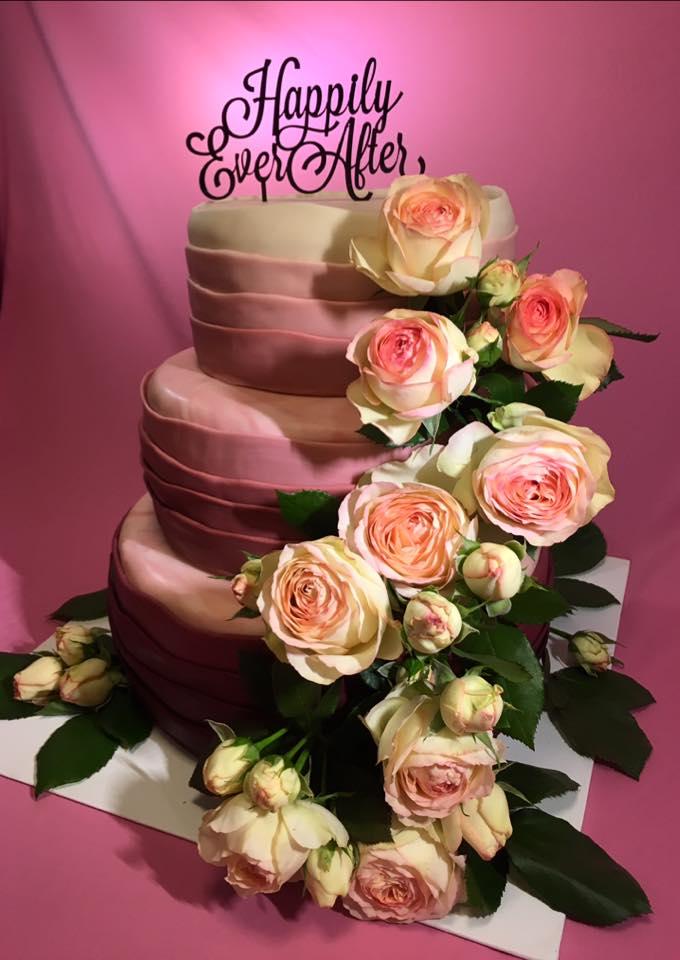 Hochzeit pink echte Rosen