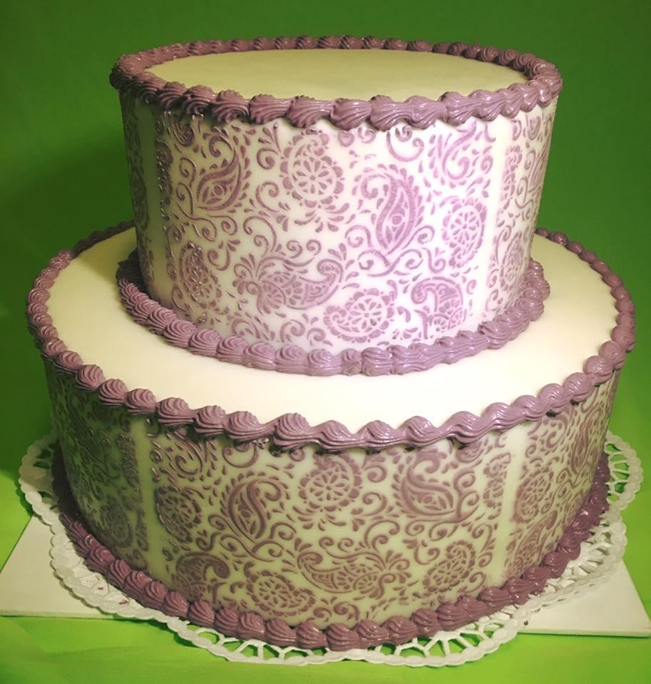 Geburtstag-lila Spitze