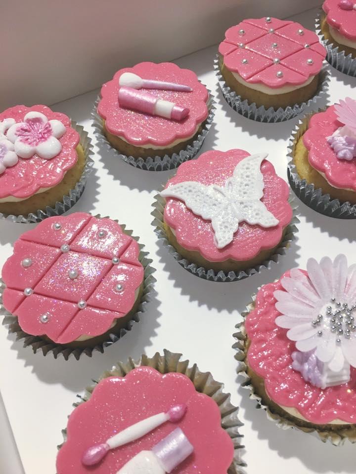 Cupcakes - Blume pink