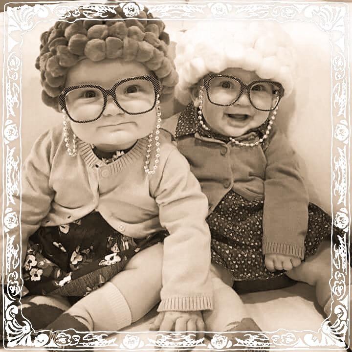 Herta&Berta als Kinder