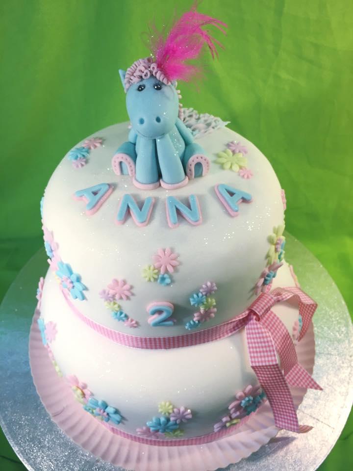 Pferd blau_rosa