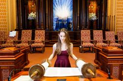 Bat Mitzvah Girl and Torah