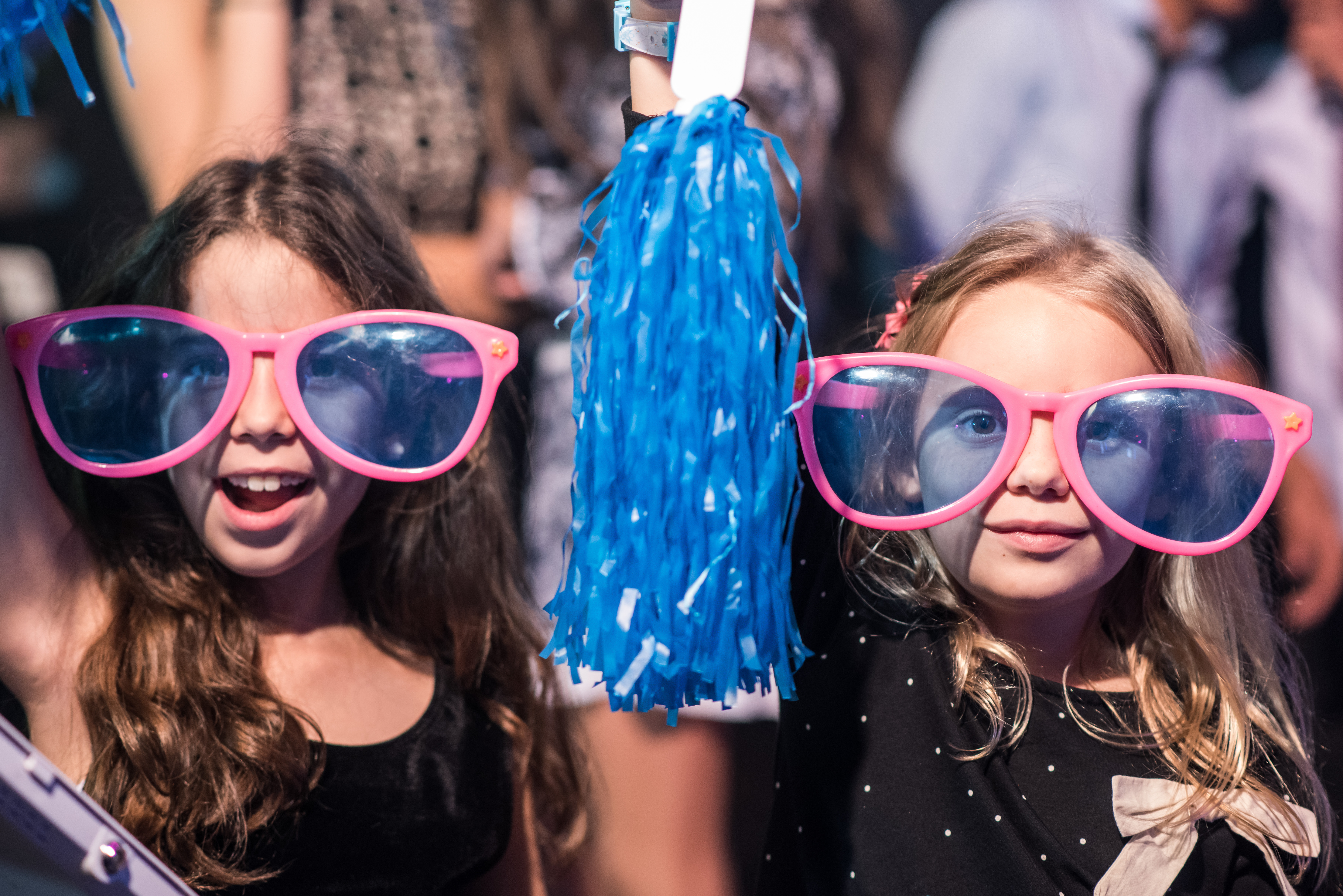 Girls and Goofy Glasses