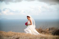 Bride on a Hillside