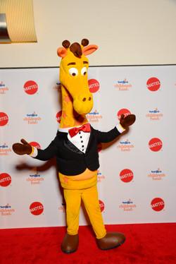 Giraffe on Red Carpet