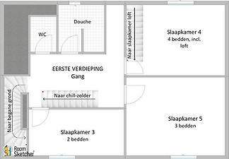 Gezellig floorplan  1ste verdieping kaal