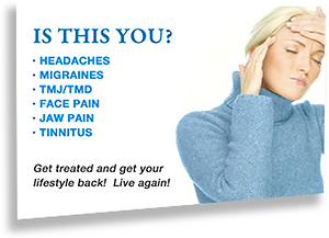 Jaw pain relief, also headache and mirgraine relief