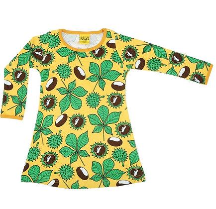Duns Chestnut Daffodil Yellow Long Sleeve Basic Dress