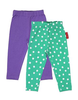 Toby Tiger Green Dot Leggings - 2 Pack