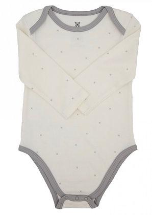 Lily & Mortimer Whisper White Stars Bodysuit