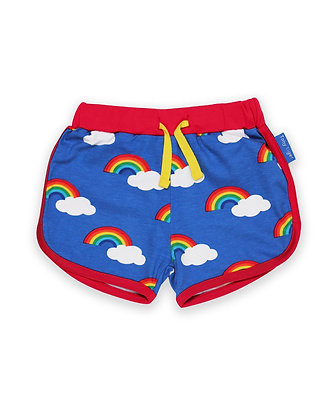 Toby Tiger Rainbow Print Running Shorts