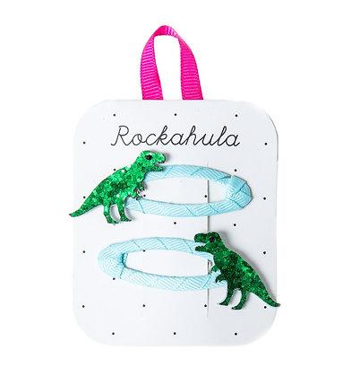 Rockahula Dinosaur Glitter Hair Clips
