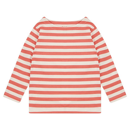 Piccalilly Spicy Orange Stripe Top