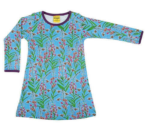 Duns Willowherb Blue Basic Long Sleeve Dress