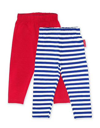 Toby Tiger Breton Stripe Leggings 2-Pack