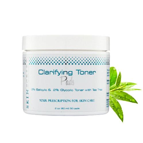 Clarifying Toner Pads W/2% Salicylic & 2% Glycolic and Tea Tree