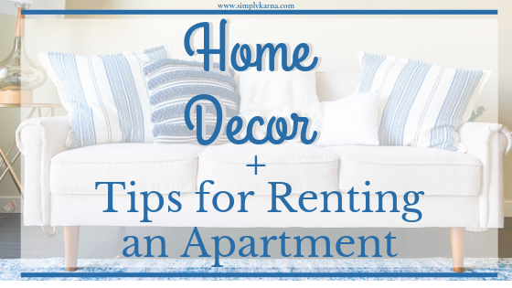 home decor, blue and white apartment, apartment decor