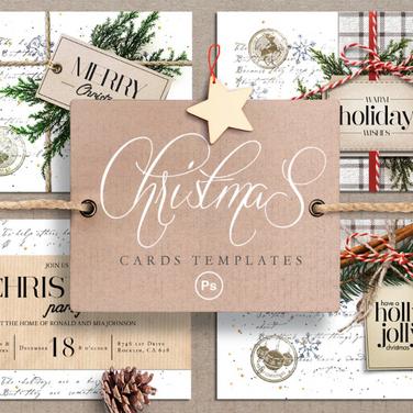 Vintage Christmas Invitation Cards