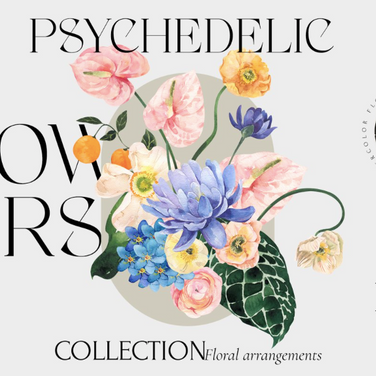 PSYCHEDELIC FLOWERS bright florals