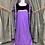 Thumbnail: Vintage Purple Chiffon Medieval Dress