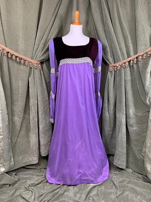 Vintage Purple Chiffon Medieval Dress