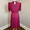 Thumbnail: Vintage Raspberry Colored Chiffon Dress