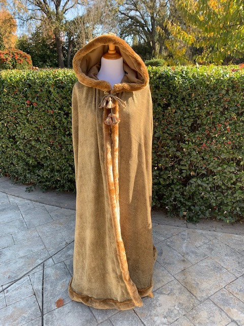 Outdoor Photo Hooded Cape Up-Cycled from Chenille Drapes