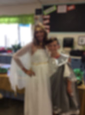 Upcycle Ancient Greeks Mother & Son Costumes