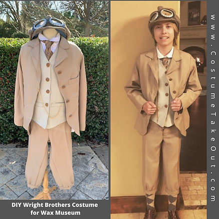 DIY Wilbur Wright Costume Wax Museum