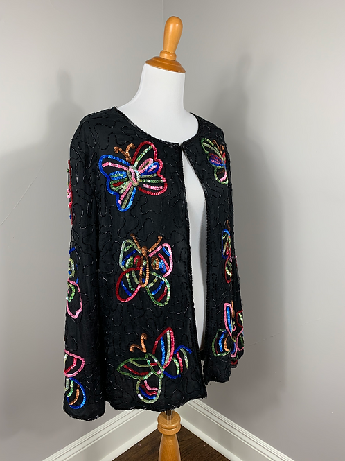 1980's  Butterfly Sequin Jacket