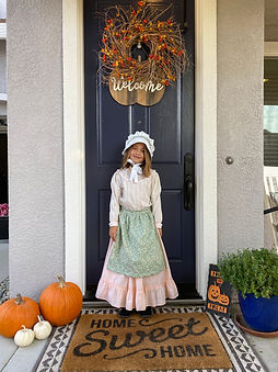 Upcycle Pioneer Girls Costume