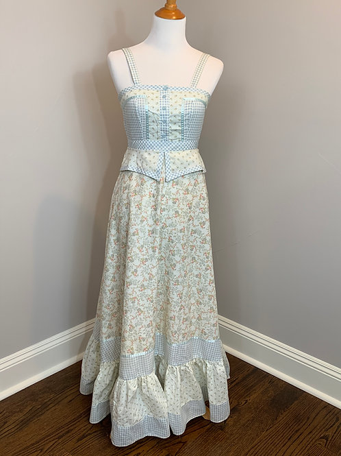 Gunne Sax 1970s Summer Dress