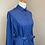 Thumbnail: Vintage Royal Blue Shirt Dress with Red Paisley Print