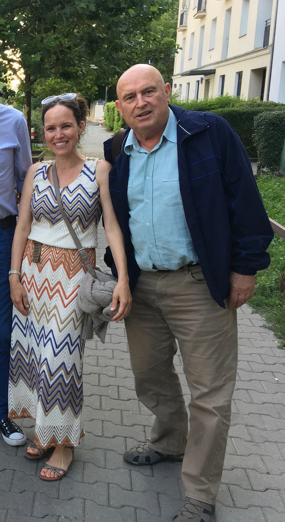 me & daddy in Poland
