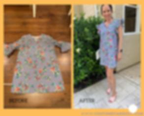 Upcycled Ruffled Sleeveless Dress
