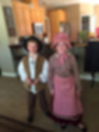 Upcycle Pioneer Costumes for brother and sister from thrifted materials