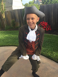 Upcycle American Colonial Boy Costume